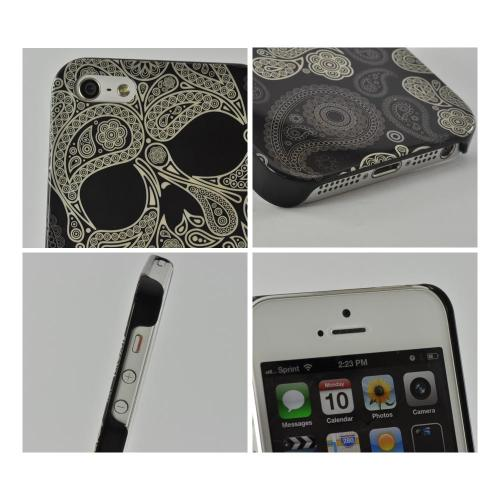 Apple iPhone SE / 5 / 5S  Case, Nex [Paisley Skull]  Hard Case w/ Screen Protector