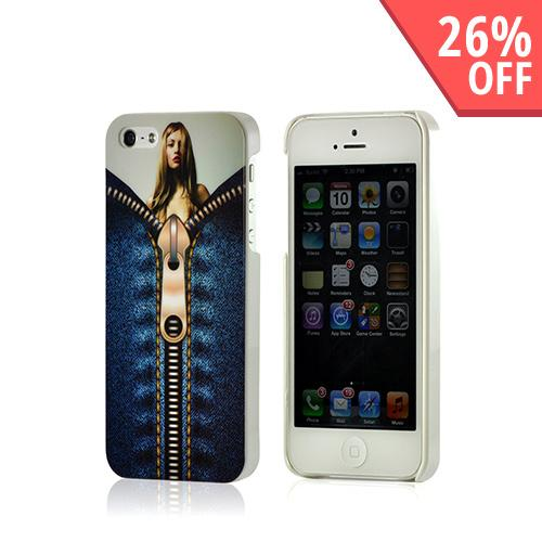 Nex Unzip Me Hard Case w/ Screen Protector for Apple iPhone 5/5S
