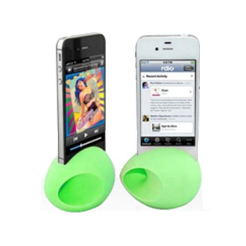 iHip Lime Green Silicone Egg Amplifier Speaker Stand for Apple iPhone 4/4S/5/5S