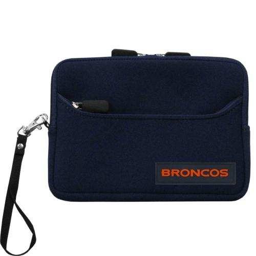 "Denver Broncos Black Neoprene Case w/ Wrist Strap for 7"" Devices - NFL Licensed"