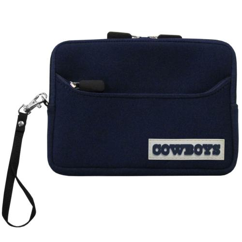 "Dallas Cowboys Dark Blue Neoprene Case w/ Wrist Strap for 7"" Devices - NFL Licensed"