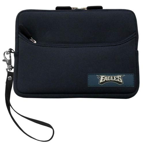 "Philadelphia Eagles Black Neoprene Case w/ Wrist Strap for 7"" Devices - NFL Licensed"