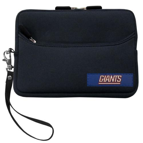 "New York Giants Black Neoprene Case w/ Wrist Strap for 7"" Devices - NFL Licensed"