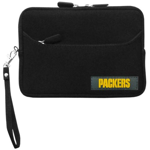 "Green Bay Packers Black Neoprene Case w/ Wrist Strap for 7"" Devices - NFL Licensed"