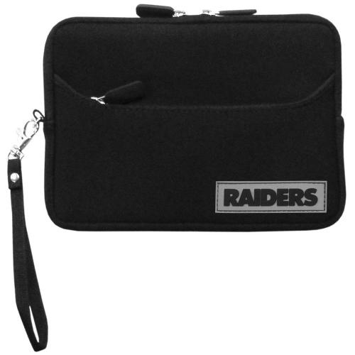 "Oakland Raiders Black Neoprene Case w/ Wrist Strap for 7"" Devices - NFL Licensed"