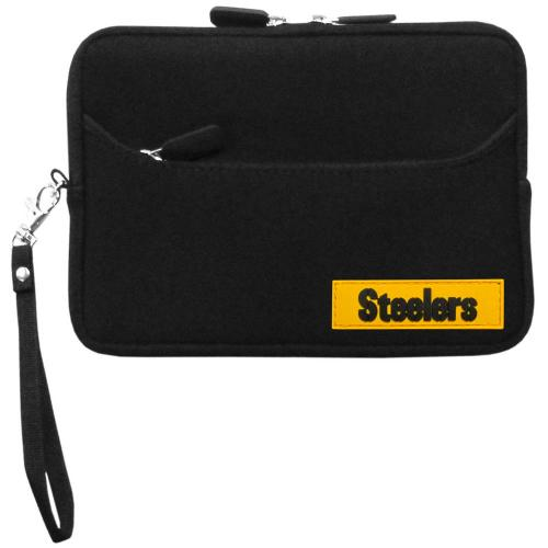 "Pittsburgh Steelers Black Neoprene Case w/ Wrist Strap for 7"" Devices - NFL Licensed"