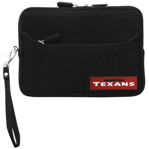 "Houston Texans Black Neoprene Case w/ Wrist Strap for 7"" Devices - NFL Licensed"