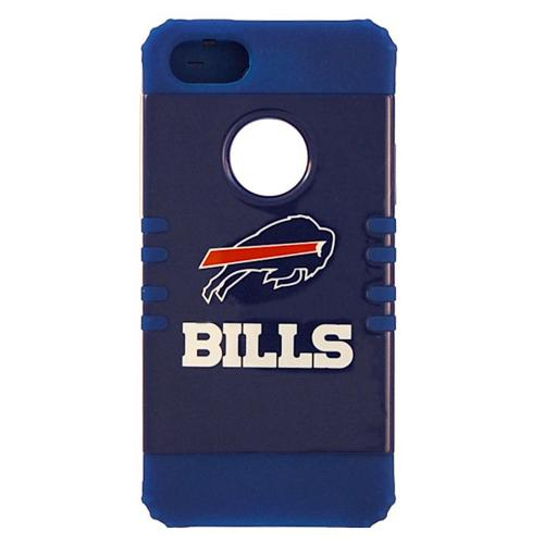 Buffalo Bills Rocker Series Blue Hard Case Shell on Blue Silicone Skin Case for Apple iPhone 5/5S - NFL Licensed