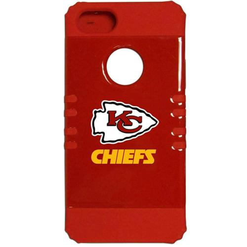 Kansas City Chiefs Rocker Series Red Hard Case Shell on Red Silicone Skin Case for Apple iPhone 5/5S - NFL Licensed