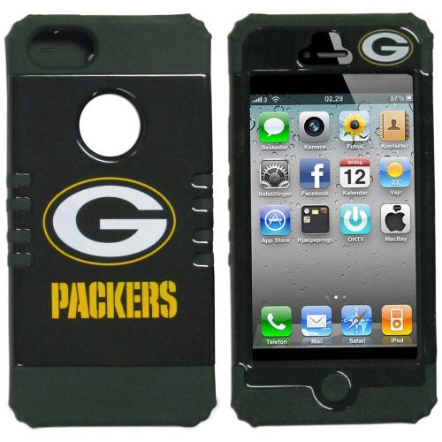 Green Bay Packers Rocker Series Dark Green Hard Case Shell on Dark Green Silicone Skin Case for Apple iPhone 5/5S - NFL Licensed