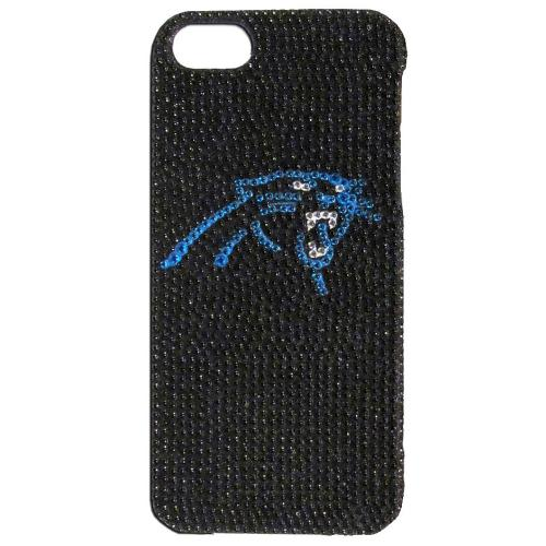 Carolina Panthers Bling Gems Hard Case for Apple iPhone 5/5S - NFL Licensed