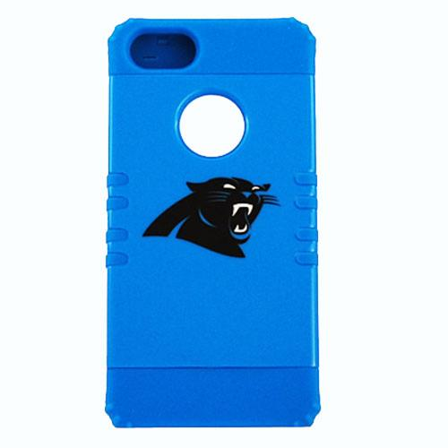 Carolina Panthers Rocker Series Blue Hard Case Shell on Blue Silicone Skin Case for Apple iPhone 5/5S - NFL Licensed