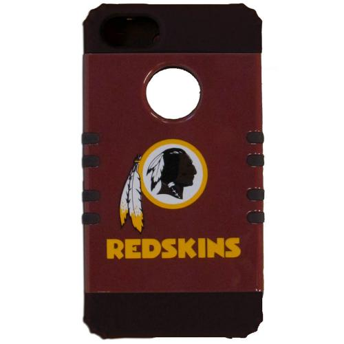 Washington Redskins Rocker Series Red Hard Case Shell on Black Silicone Skin Case for Apple iPhone 5/5S - NFL Licensed