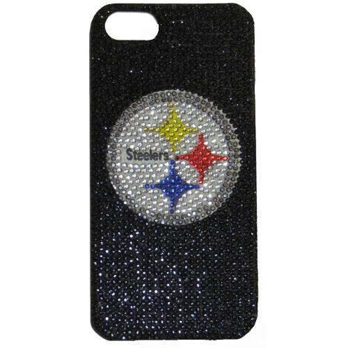 Pittsburgh Steelers Bling Gems Hard Case for Apple iPhone 5/5S - NFL Licensed