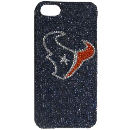 Houston Texans Bling Gems Hard Case for Apple iPhone 5/5S - NFL Licensed