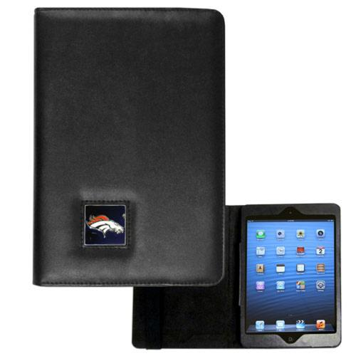 Denver Broncos Black Faux Leather Folio Case for Apple iPad Mini 1/2/3 - NFL Licensed