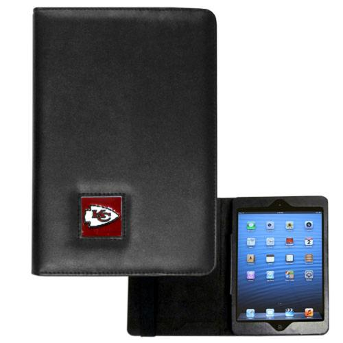 Kansas Chiefs Black Faux Leather Folio Case for Apple iPad Mini 1/2 - NFL Licensed