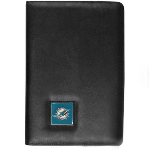 Miami Dolphins Black Faux Leather Folio Case for Apple iPad Mini 1/2 - NFL Licensed