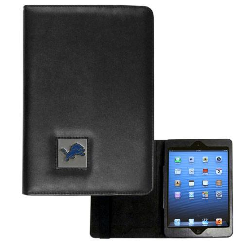 Detroit Lions Black Faux Leather Folio Case for Apple iPad Mini 1/2 - NFL Licensed