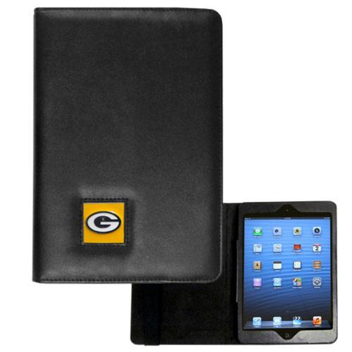 Green Bay Packers Black Faux Leather Folio Case for Apple iPad Mini 1/2/3 - NFL Licensed