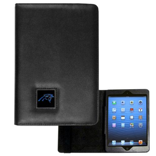 Carolina Panthers Black Faux Leather Folio Case for Apple iPad Mini 1/2/3 - NFL Licensed