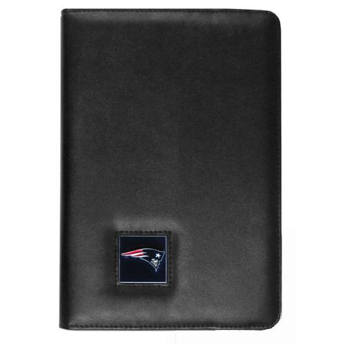 New England Patriots Black Faux Leather Folio Case for Apple iPad Mini 1/2 - NFL Licensed