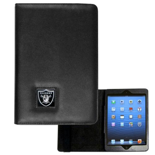 Oakland Raiders Black Faux Leather Folio Case for Apple iPad Mini 1/2 - NFL Licensed