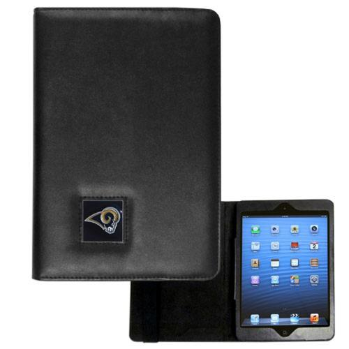 St Louis Rams Black Faux Leather Folio Case for Apple iPad Mini 1/2/3 - NFL Licensed