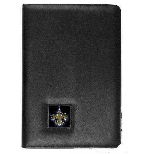 New Orleans Saints Black Faux Leather Folio Case for Apple iPad Mini 1/2/3 - NFL Licensed