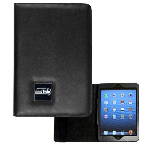 Seattle Seahawks Black Faux Leather Folio Case for Apple iPad Mini 1/2/3 - NFL Licensed