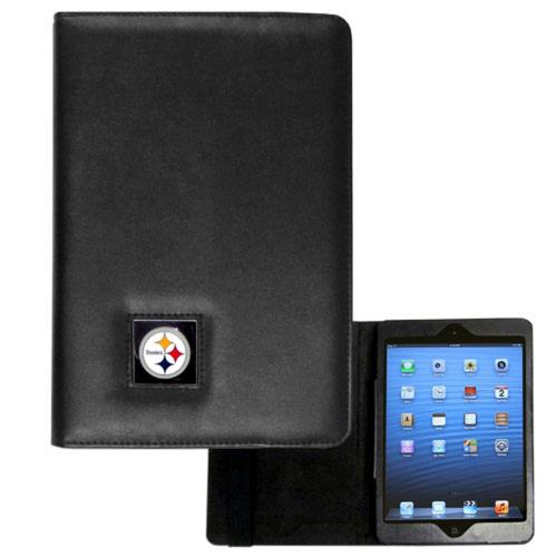 Pittsburgh Steelers Black Faux Leather Folio Case for Apple iPad Mini 1/2/3 - NFL Licensed