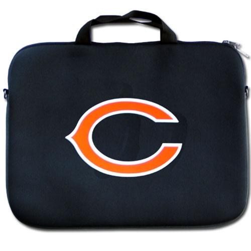 "Chicago Bears Black Neoprene Laptop Case for 15"" Laptops - NFL Licensed"