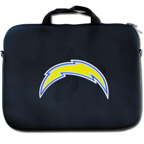 "San Diego Chargers Black Neoprene Laptop Case for 15"" Laptops - NFL Licensed"