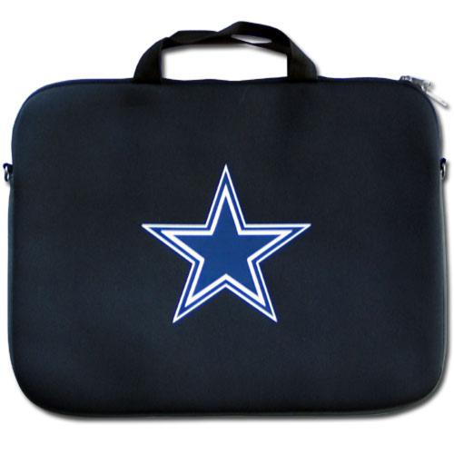 "Dallas Cowboys Black Neoprene Laptop Case for 15"" Laptops - NFL Licensed"