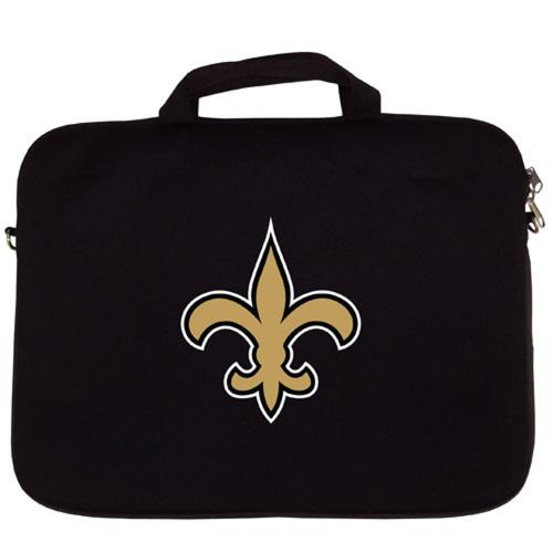 "New Orleans Saints Black Neoprene Laptop Case for 15"" Laptops - NFL Licensed"