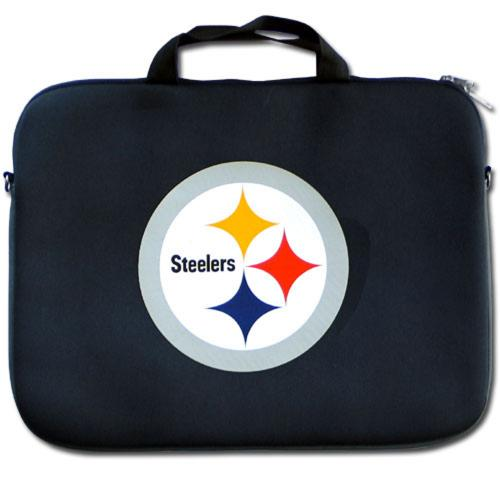 "Pittsburgh Steelers Black Neoprene Laptop Case for 15"" Laptops - NFL Licensed"