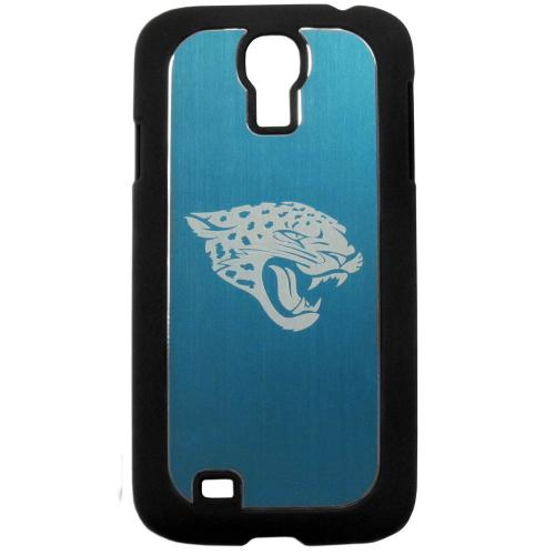 Jacksonville Jaguars Black Rubberized Hard Tough Case w/ Etched Engraved Back for Samsung Galaxy S4 - NFL Licensed