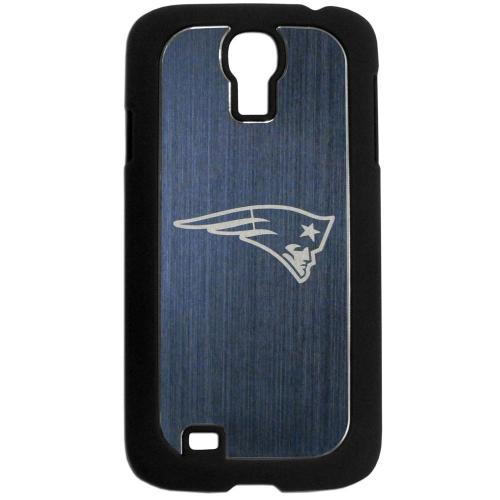 New England Patriots Black Rubberized Hard Tough Case w/ Etched Engraved Back for Samsung Galaxy S4 - NFL Licensed