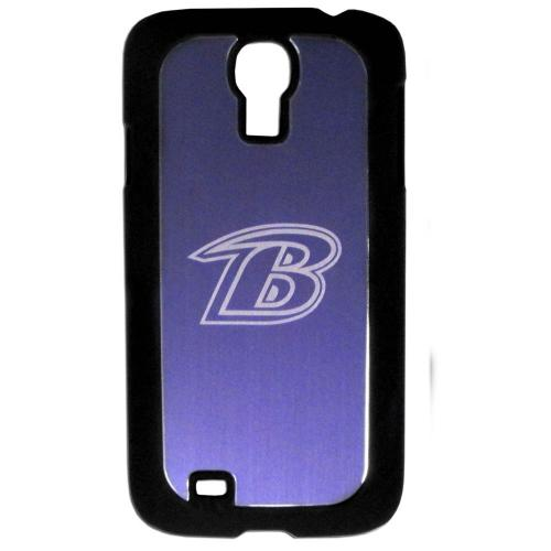 Baltimore Ravens Black Rubberized Hard Tough Case w/ Etched Engraved Back for Samsung Galaxy S4 - NFL Licensed