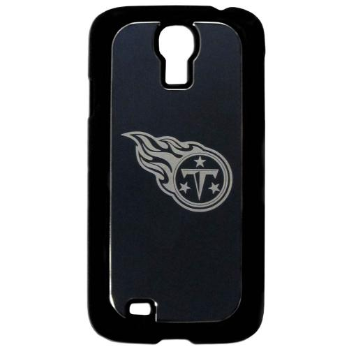 Tennessee Titans Black Rubberized Hard Tough Case w/ Etched Engraved Back for Samsung Galaxy S4 - NFL Licensed