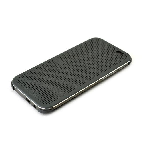 HTC Warm Black Dot View Diary Case for HTC One (M8)