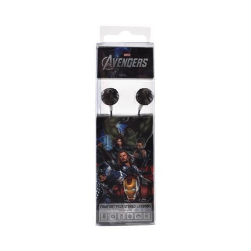 Officially Licensed Marvel Universal Stereo Earbud Headset (3.5mm) - S.H.I.E.L.D. Logo