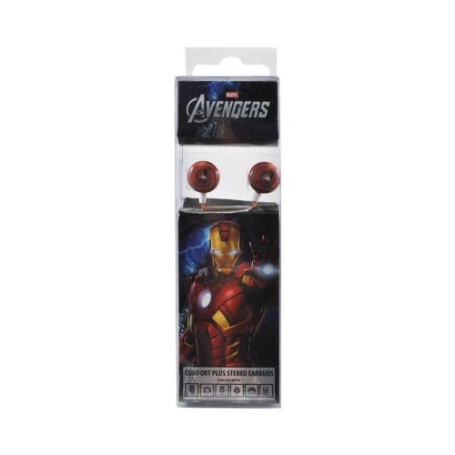Officially Licensed Marvel Universal Stereo Earbud Headset (3.5mm) - Iron Man Avengers Logo