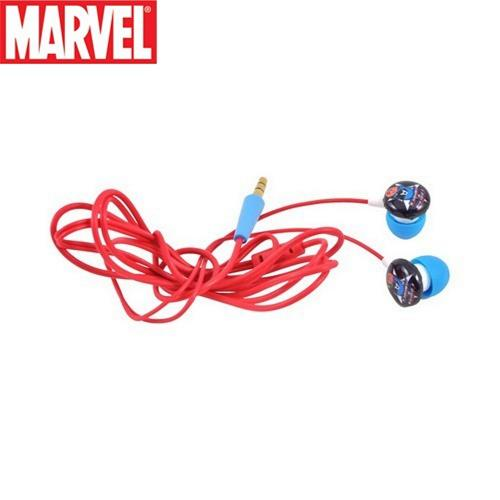 Officially Licensed Marvel Universal Stereo Earbud Headset (3.5mm) - Vintage Captain America