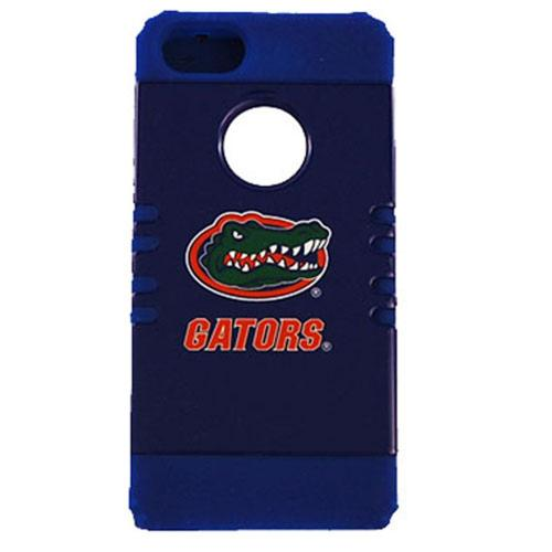 Florida Gators Rocker Series Black Hard Case Shell on Blue Silicone Skin Case for Apple iPhone 5/5S - NCAA Licensed