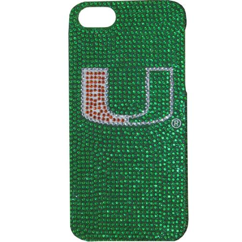Miami Hurricanes Bling Gems Hard Case for Apple iPhone 5/5S - NCAA Licensed
