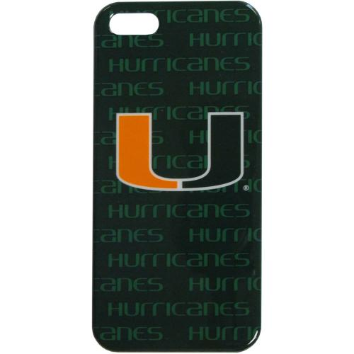 Miami Hurricanes Hard Cover Case for Apple iPhone 5/5S - NCAA Licensed