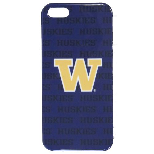 Washington Huskies Hard Cover Case for Apple iPhone 5/5S - NCAA Licensed