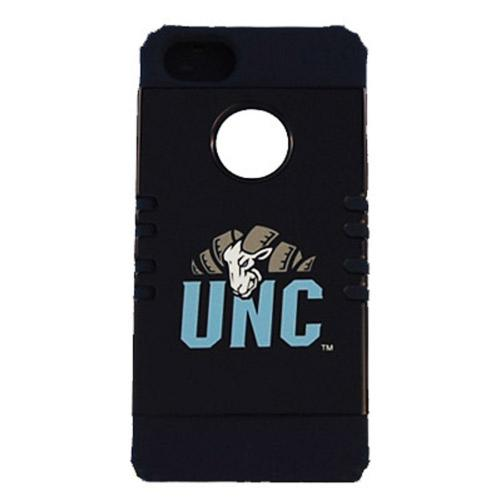 N. Carolina Tarheels Rocker Series Black Hard Case Shell on Black Silicone Skin Case for Apple iPhone 5/5S - NCAA Licensed