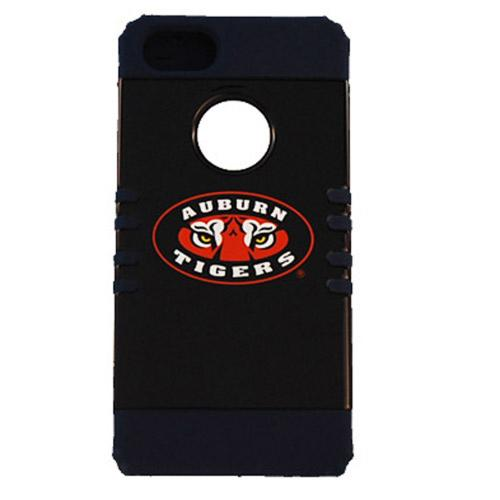 Auburn Tigers Rocker Series Black Hard Case Shell on Black Silicone Skin Case for Apple iPhone 5/5S - NCAA Licensed